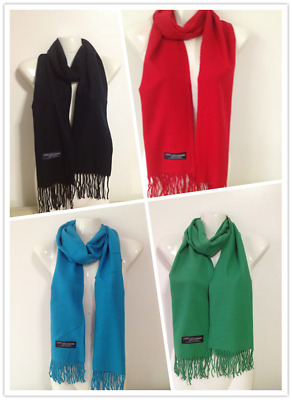 Wholesale 4Pcs 100% Cashmere Scarf Made In Scotland Solid Design Style B