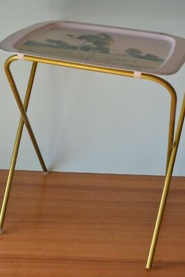 Vintage metal Willow tray Serving on a stand Ward Thompson australiana tv dinner