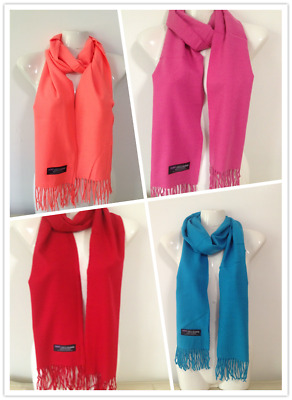Wholesale 4Pcs 100% Cashmere Scarf Made In Scotland Solid Design Style F