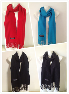 Wholesale 4Pcs 100% Cashmere Scarf Made In Scotland Solid Design Style G
