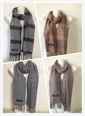 Wholesale 4Pcs 100% Cashmere Scarf Made In Scotland Houndstooth Design Style B
