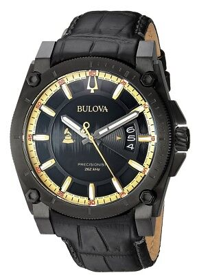 Bulova  Special Grammy Edition Precisionist Leather Mens Watch