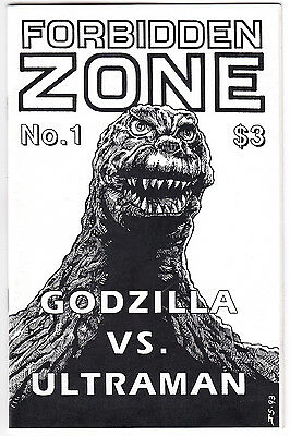 Forbidden Zone #1 (1993) Fanzine Godzilla Vs Ultraman / Nicholas Worth Interview
