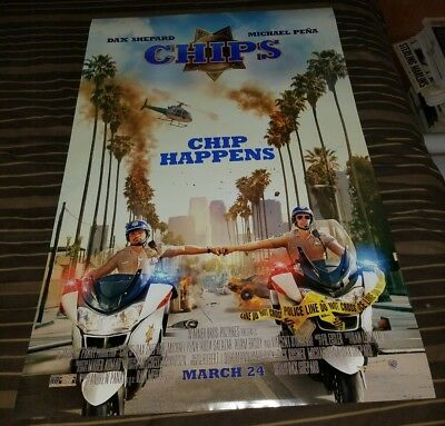 Chips 2017 DS 27x40 Movie Poster