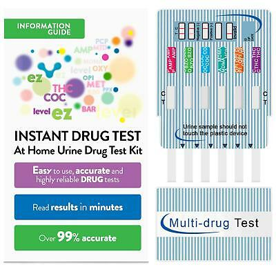 EZ Level 6 Panel Urine Drug Test Multi-Drug Testing Kit Screen Dip Card 5 Pack