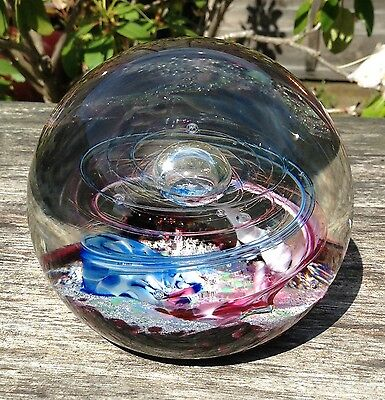 Stunning 1989 Selkirk Glass Scotland Paperweight Titled Fiesta Ltd Edt 208/750