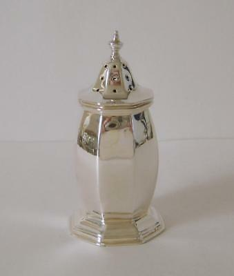 A Heavy Sterling Silver Octagonal Shaped Pepper Pot Chester 1929 45 Grams