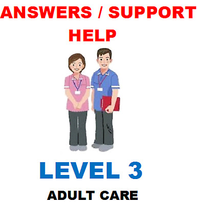 Diploma Health and Social Care NVQ QCF 9 x Mandatory units Level 3 ANSWERS HELP