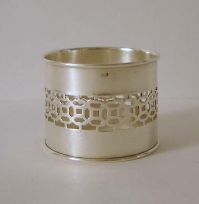 An Ornate Antique Solid Silver Napkin Ring