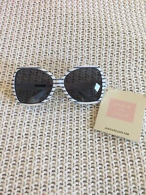 Janie and Jack Watercolor Poppy Stripe Sunglasses Periwinkle White 0 1 2 Years