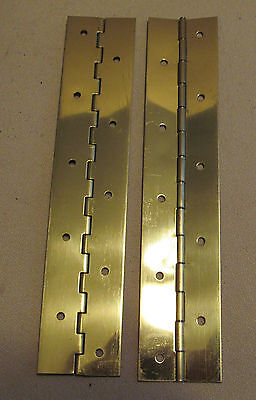 """A Pair 2 Aluminum Piano Hinge 1/""""x1/""""x10/"""" 20 Gauge Made in USA"""