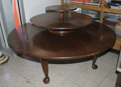 Stickley 3 Tier Lazy Susan Table Lot 548