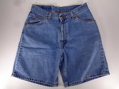 Vtg Levis 950 Relaxed Fit Shorts Size 11 Womens 29 Orange Tab Denim