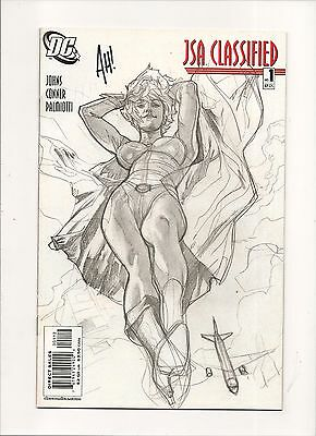 JSA: Classified #1 (Sep 2005, DC) Sketch Cover Signed By Adam Hughes With COA NM