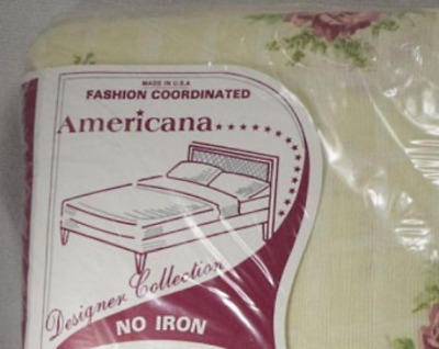 Vintage SHABBY Chic Victorian FRENCH country Rose Floral Full Size Sheet Set