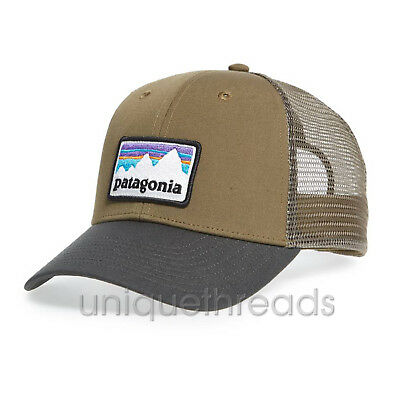 f3b3c31dbf0 PATAGONIA MENS - Shop Sticker Patch LoPro Trucker Hat Cap - Dark Ash ...