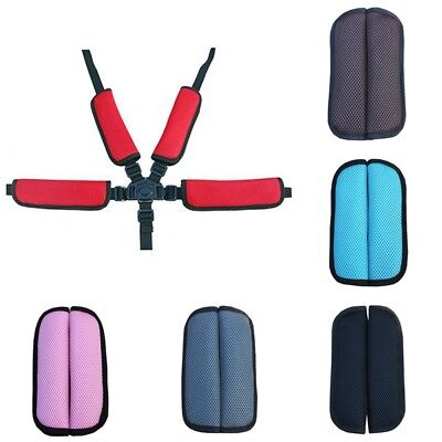 2PC Baby Stroller Belt Pad Shoulder Cushion Infants Pram Trolley Seat Belt Cover