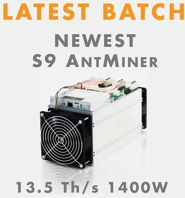 New Bitmain Antminer S9 14TH/s Bitcoin BTC Miner Makes $500/Month Pre-Order