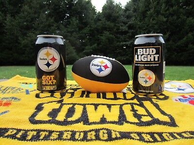 🏈 2017 Pittsburgh Steelers Nfl Got Six Bud Light Kickoff Beer Can Bottom Opened