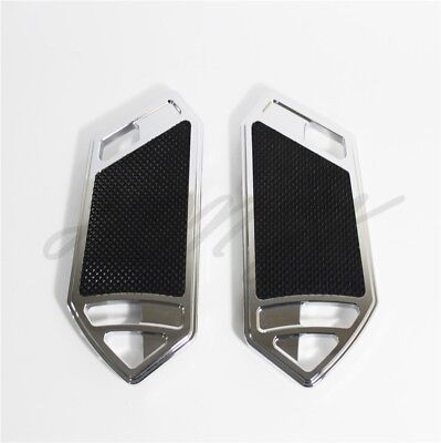 Chrome Deep CNC Cut  Passenger Foot Boards Floorboard For Harley Touring&Softai