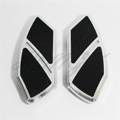 Arc Edge Rear Passenger Foot Board Floorboard For Softail Harley Touring chrome