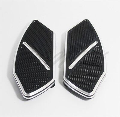 Arc Edge Rear Passenger Foot Board Floorboard For Softail Harley Touring Black