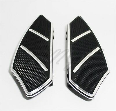 Groove Rider Front FootBoard Floorboard Fit Harley Touring Softail 84-15 Black