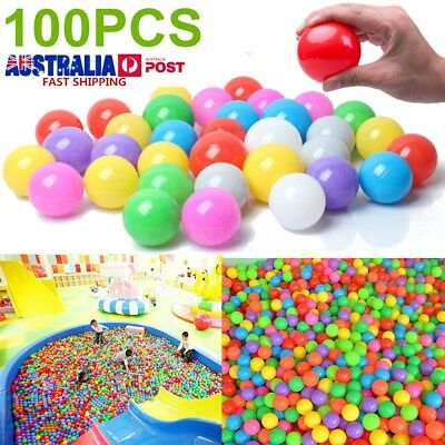 100X 5.5cm Secure Baby Kid Pit Toys Swim Soft Plastic Fun Colorful Ocean Balls