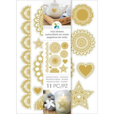"""Momenta Gold Doilies Vinyl Stickers 4.5""""X8"""", Art, Craft, Decor, Wrapping, Cards"""