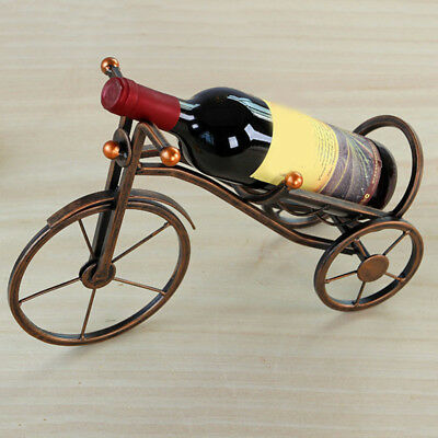 Tricycle Bronze Wine Bottle Holder Red Wine Rack Stand Support Bracket Tool Gift