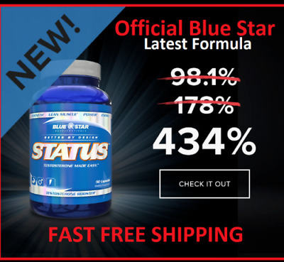 Blue Star Status Pharmaceutical Grade Testosterone Booster (Clear Capsules)