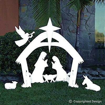 Large Outdoor Nativity Scene Christmas Yard Decoration Set  Reusable Durable