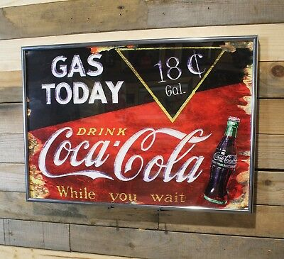 Restomod of Old Cola Sign Gas Today Framed Fine-Art Print 13x19 Ready to Hang!