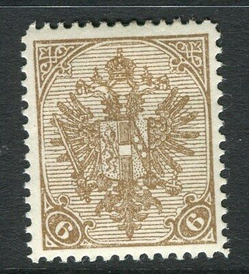 BOSNIA HERZEGOVINA;  1900 early Arms issue Mint hinged 6h. value