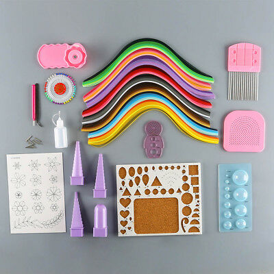 5mm Scrapbooking Quilling Paper Set Starter Quilling Tools Kit Climper Tool New
