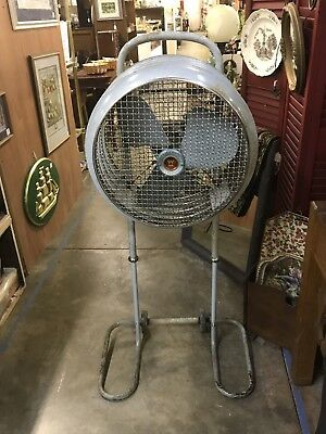 Huge Vintage Westinghouse Mobilaire Stand Fan Works Great Mid Century Industrial