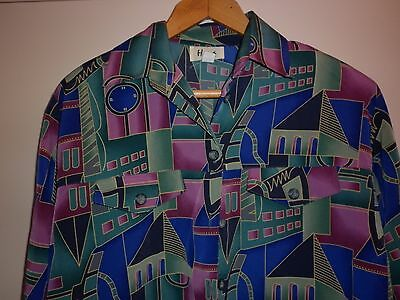 VINTAGE 1980s BRIGHT SUMMER JACKET / TOP  SIZE 16 EXCELLENT CONDITION