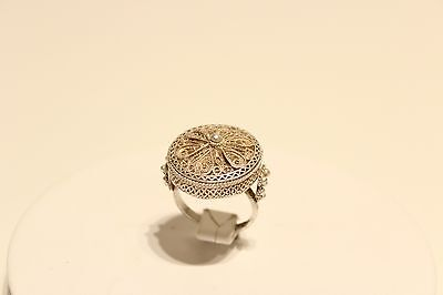 Vintage Beautiful Hand Made Solid Silver 950 Bulgaria Ladies Filigree Ring