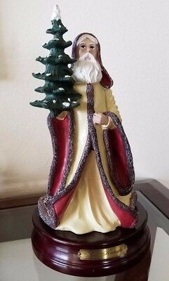 Duncan Royale Santa Claus Kris Kringle Music Box Large Figurine Music Box