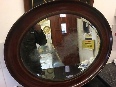 Antique Large Distressed Plate Mirror