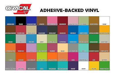 """Oracal 631 Adhesive Backed Vinyl 12"""" x 10 ft roll"""
