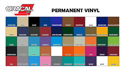 Oracal 651 Permanent Vinyl 12 inches x 10 ft roll