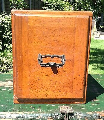 Large Vintage Early 20th Century Single Kenrick & Jefferson Oak Index Drawer