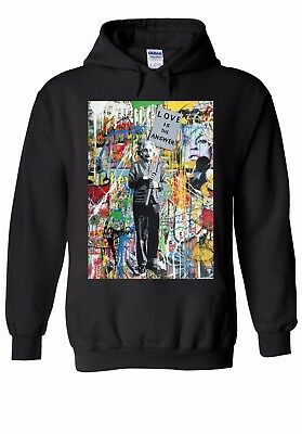 Banksy Einstein Love Is The Answer Men Women Unisex Top Hoodie Sweatshirt 1784E