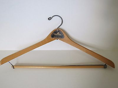 Vintage Wood Clothes Suit Hanger - May's - Grand Rapids, Michigan - Wishbone