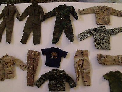 Lot of Misc. Modern 1/6th scale Uniforms. (No Vintage)  (shipping included)