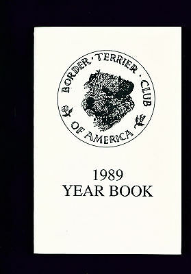 Dog Book Border Terrier Club of America 1989 Yearbook Year Book