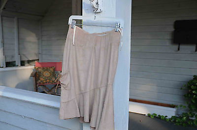 NWT beige suede like skirt xs extra small JW Japenese weekend Maternity $74