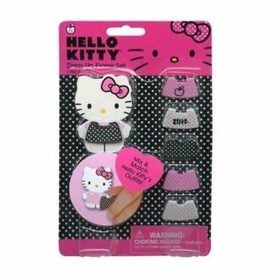 Hello Kitty Dress Up Eraser on Gift Card Set Special Edition US Market 44150