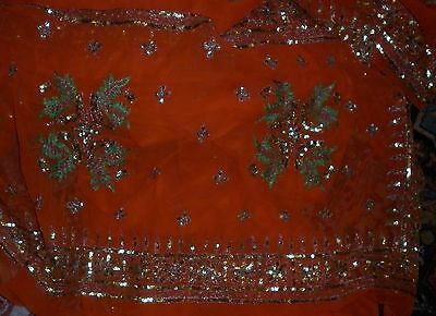 Vintage Exotic Indian Sheer Sari Excellent Condition